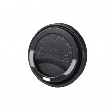 Capac negru cu deschidere bautura pentru pahare carton 250/300/400 ml, CPLA, set 50 buc