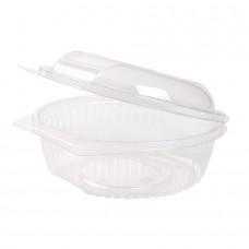 Caserola rotunda, capac rabatabil, PLA, 750 ml, set 50 buc