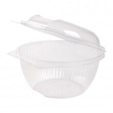 Caserola rotunda, capac rabatabil, PLA, 1000 ml, set 50 buc