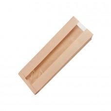 Punga, hartie cu folie transparenta din PLA, 70x140x400 mm, set 500 buc