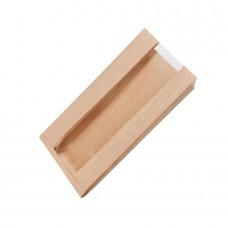 Punga, hartie cu folie transparenta din PLA, 200x110x400 mm, set 500 buc