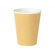 Pahare biodegradabile, triplu strat, carton ondulat cu PLA, 300ml/12oz, set 25 buc