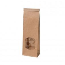 Punga biodegradabila S, hartie cu fereastra si captuseala din PLA, 47x88x260 mm, set 500 buc