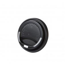 Capac negru cu deschidere bautura pentru pahare carton 150/200 ml, CPLA, set 50 buc