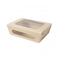 Cutii biodegradabile salata/prajituri Tree Free, bambus si PLA, 12x20x5 cm, set 50 buc