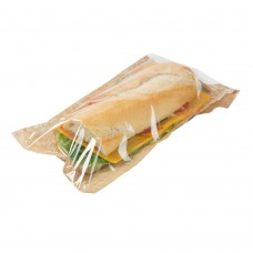 Punga sandwich, hartie cu folie PLA, 14x28 cm, set 100 buc
