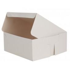 Cutie tort, carton alb, 23x23x10 cm, set 100 buc