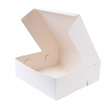 Cutii biodegradabile tort, carton alb, 30.5x30.5x10 cm, set 100 buc