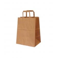 Pungi biodegradabile, hartie natur, 32x17x38.5 cm, set 250 buc