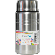 Termos Dora pentru mancare cu lingura, metalic, inox, 750 ml