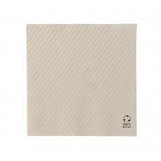 Servetele biodegradabile nealbite, 1 strat, hartie reciclata, 33x33 cm, set 100 buc