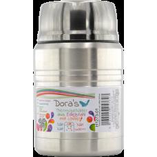 Termos Dora pentru mancare cu lingura, metalic, inox, 500 ml