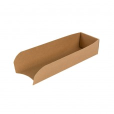 Tavite biodegradabile hot dog, carton maro, 18x5 cm, set 500 buc