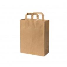 Pungi biodegradabile M, hartie kraft, 22x10x28 cm, set 250 buc