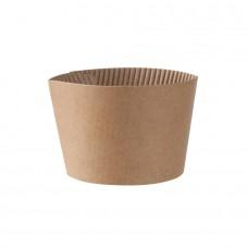 Mansoane pahare carton 200 ml, carton maro, set 100 buc