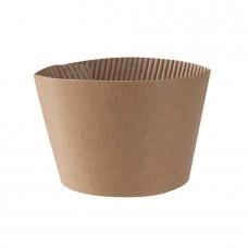 Mansoane pahare carton 300/400 ml, carton maro, set 100 buc