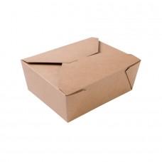 Cutie biodegradabila maro, carton, 1150 ml, set 300 buc