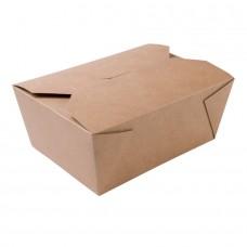 Cutie biodegradabila maro, carton, 2500 ml, set 125 buc