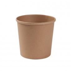 Boluri biodegradabile maro supa, premium, carton cu PLA, 600ml/24oz, set 25 buc