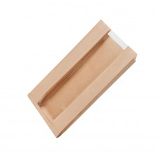 Punga biodegradabila, hartie cu folie transparenta din PLA, 200x110x400 mm, set 500 buc