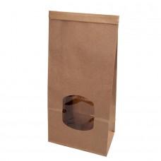 Punga biodegradabila M, hartie cu fereastra si captuseala din PLA, 72x115x246 mm, set 400 buc